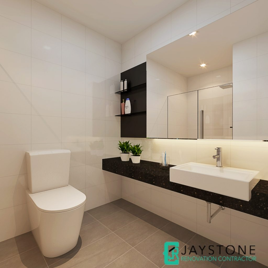 Condo renovation singapore parc oasis jurong east ave for Toilet renovation